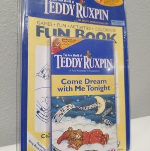 VINTAGE TEDDY RUXPIN VHS TAPE COME DREAM WITH ME